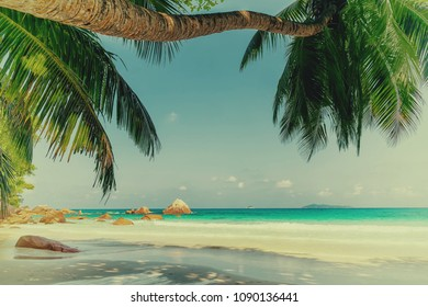 anse lazio beach praslin island seychelles,old-fashioned colors