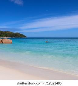 Anse Lazio paradise beach. Northern part of Praslin island. Seychelles