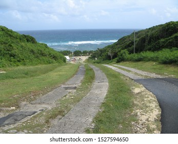 """""""Anse Maurice"""", beach of the North of Grande-Terre, archipelago of Guadeloupe"""