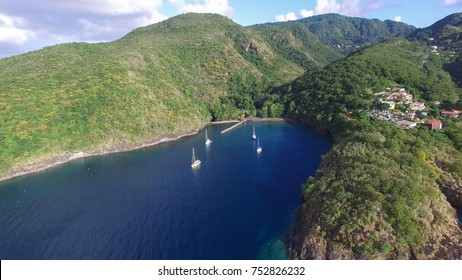 Anse Noire in Martinique -  sky view