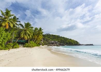 Anse Takamaka in the south of Mahe, Seychelles