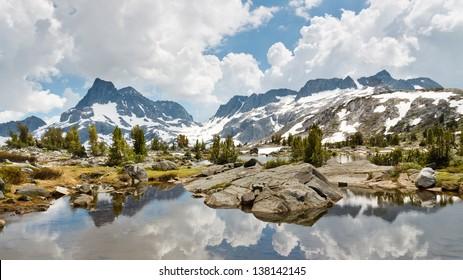 Ansel Adams Wilderness Alpine Lakes Scenery, Sierra Nevada, California, USA