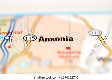 Ansonia on a geographical map of USA