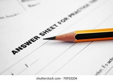 Answer sheet