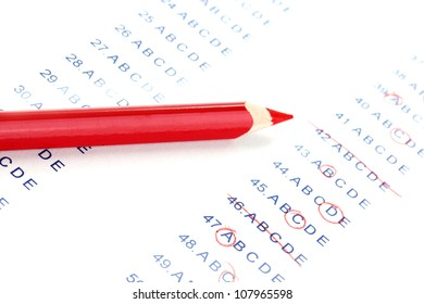 Answers to test questions close-up
