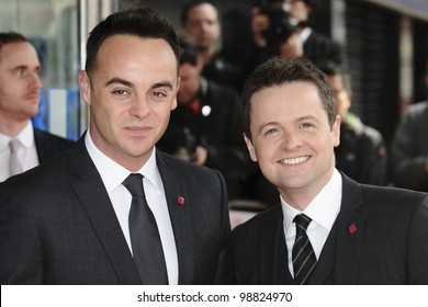 Ant and Dec arriving for the The Prince's Trust Celebrate Success Awards 2012 at the Odeon Leicester Square, London. 14/03/2012 Picture by: Steve Vas / Featureflash