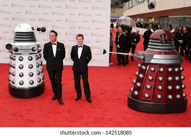 Ant McPartlin and Declan Donnelley arriving for the TV BAFTA Awards 2013, Royal Festival Hall, London. 12/05/2013