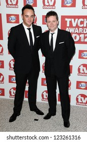 Ant McPartlin and Declan Donnely arriving for the 2012 TVChoice Awards, at the Dorchester Hotel, London. 10/09/2012. Picture by:  Steve Vas