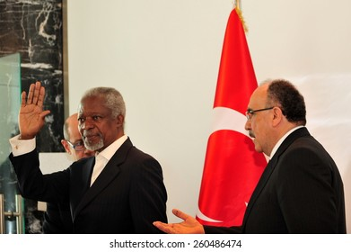 ANTAKYA, TURKEY - APRIL  02:  Kofi Annan the seventh UN Secretary General (1997 - 2006) portrait on April 02, 2012 in Antakya, Turkey.