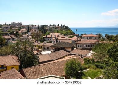 Antalya downtown skyline birds view in Turkey