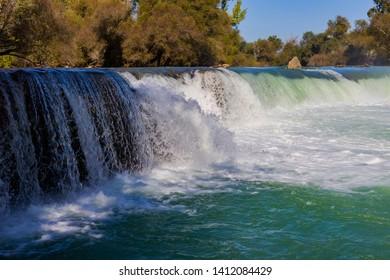 Antalya manavgat waterfall in Turkey