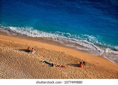 ANTALYA PROVINCE, LYCIA, TURKEY- May 11, 2016. Kaputas beach, between Kalkan and Kas towns.