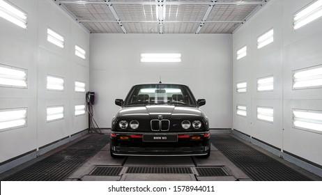 Antalya / Turkey - December 4 2019: Black BMW E30 M3