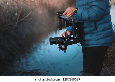 ANTALYA, TURKEY - DECEMBER 8, 2018: FILMING WITH DJI RONIN M AND SONY A7R III