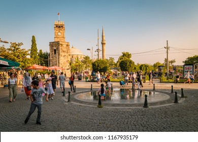 Antalya Turkey July 2018, View of street in Kaleici historical district of Antalya in Turkey. Old town is popular destination among tourists