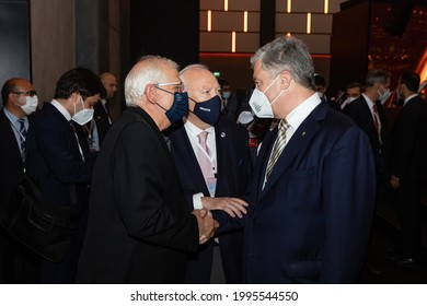 ANTALYA, TURKEY - Jun 19, 2021: Fifth President of Ukraine Petro Poroshenko during Antalya Diplomacy Forum which is a high-level gathering of professionals that deal with diplomacy