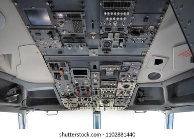 Antalya, Turkey May 15, 2018; International Antalya Airport Turkey.Boeing 737-800 Cockpit view
