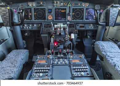 Antalya, Turkey May 26, 2017; International Antalya Airport Turkey.Boeing 737-800 Cockpit view