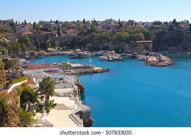 ANTALYA, TURKEY OCTOBER 27 2016: Historical old city Kaleici. October 27 in Antalya, Turkey.