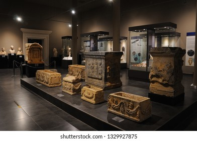 ANTALYA, TURKEY - October 3, 2018: Alanya Archaeological Museum