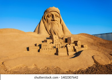 ANTALYA, TURKEY - SEPTEMBER 12, 2014: Sandland or Sand Sculpture Museum is an open air museum located at the Lara beach in Antalya city in Turkey