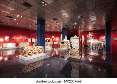 ANTALYA, TURKEY - SEPTEMBER 14, 2014: Antalya Archeological Museum is one of Turkey's largest museums located in Antalya city in Turkey