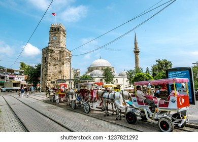 Antalya. Turkey.4 June 2018.The streets of the old town Kaleici in Antalya