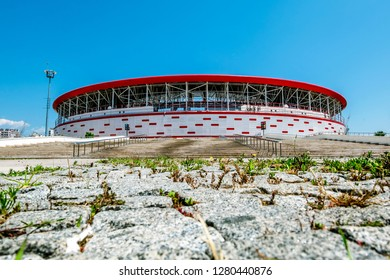 Antalya. Turkey.5 June 2018.view of Antalya arena stadium in Turkey in Antalya.