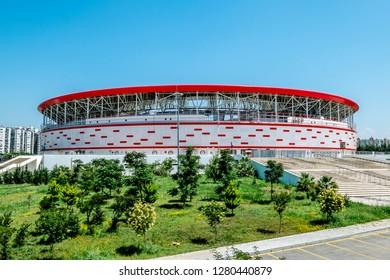Antalya. Turkey.5 June 2018.view of Antalya arena stadium in Turkey in Antalya.