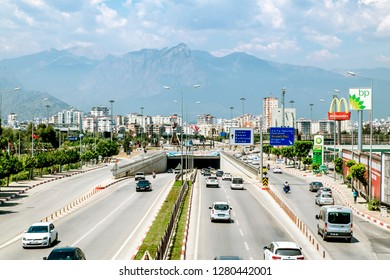 Antalya. Turkey.5 June 2018.View of the highway and streets in Antalya .