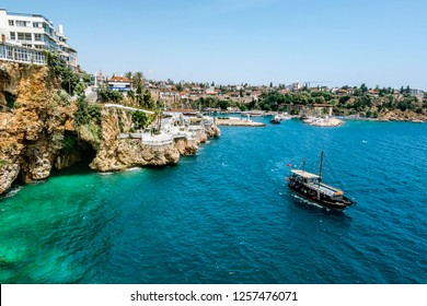 Antalya. Turkey.5 June 2018.View of the Marina in the old town of Kaleici in Antalya .