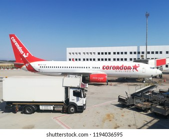 Antalya ,TURKEY-SEPTEMBER 10,2018:Corendon Airlines Boeing 737.Corendon Airlines is a Turkish leisure airline headquartered in Antalya.