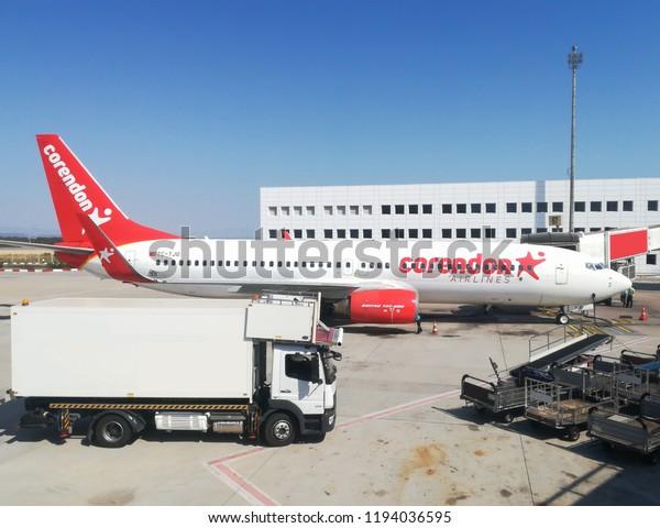 Antalya ,TURKEY-SEPTEMBER 10,2018:Corendon Airlines Boeing 737.Corendon Airlines is a Turkish leisure airline headquartered in Antalya.
