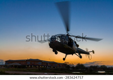 ANTANANARIVO MADAGASCAR OCT 2 Helicopter Landing Stock Photo Edit