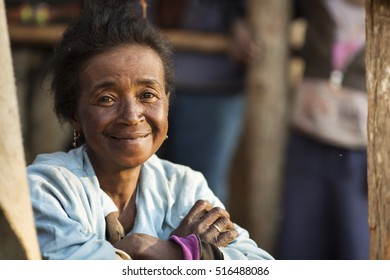 ANTANANARIVO, MADAGASCAR - SEPTEMBER 26, 2016: Unidentified Madagascar woman. People in Madagascar suffer of poverty due to slow development of the country