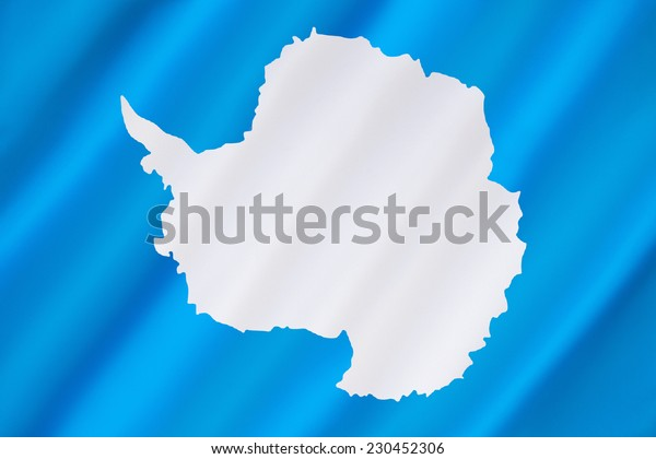 Antarctic Flag - Antarctica has no official flag as it is not a nation nor is it ruled by a single government. This is the most often used flag.
