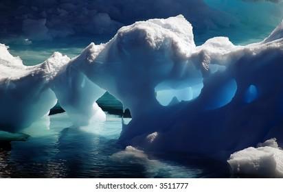 Antarctic ice caves
