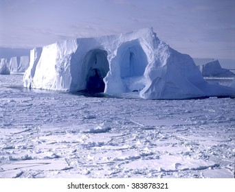 Antarctic iceberg around the antarctic coast.