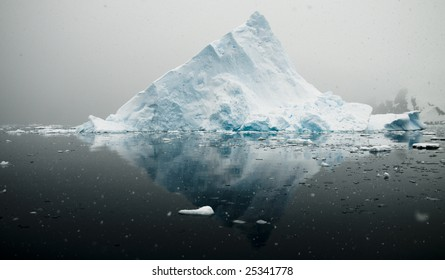 Antarctic triangular iceberg