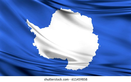 Antarctica has no official flag as it is not a nation or ruled by a single government.This is the most widely used flag - a map of the continent.