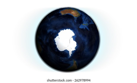 Antarctica Isolated (Elements of this image furnished by NASA)