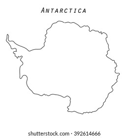 Antarctica Map Outline Isolated