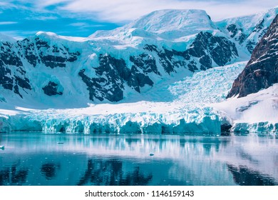 Antarctica mountains and ice
