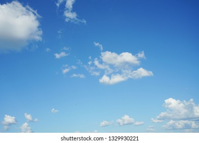 antastic soft white clouds against blue sky