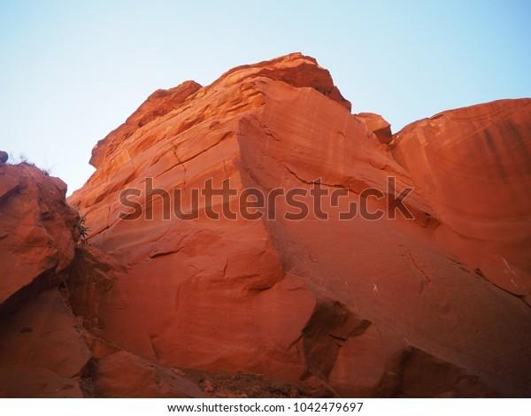 ANTELOPE, ARIZONA - SEP 14: Inside the Antelope Canyon