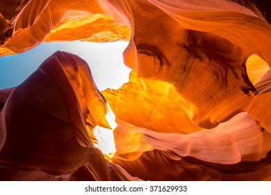 Antelope Canyon in Arizona.