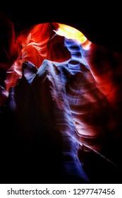 The Antelope Canyon, Page, Arizona, USA