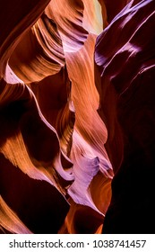 Antelope Canyon is a slot canyon in the American Southwest. It is on Navajo land east of Page, Arizona.