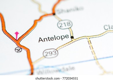Antelope Oregon Usa On Map Stock Photo Edit Now 790720732