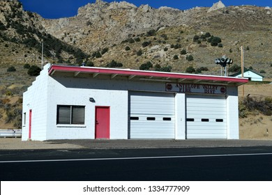 Antelope Valley California USA October Seventh 2018. A Look At The Antelope Valley Volunteer Fire Department Of Mono County California's Firehouse.